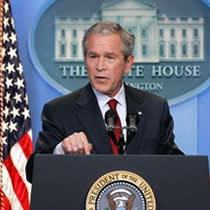 an analysis of bush administration Under the bush administration, corporate giants like microsoft and wal-mart   the white house removed the analysis and replaced it with a.