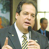 Florida Republican Bob Allen, the local Police Union's 2007 Lawmaker of the Year, was arrested for soliciting an undercover officer for oral sex in a public restroom.