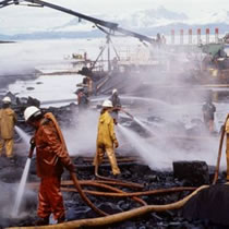 The Exxon Valdez oil spill.