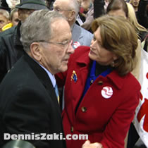 Convicted criminal Ted Stevens and Lisa Murkowski